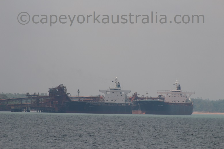weipa ore carrier ships