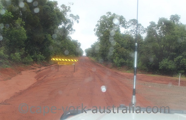 wet season road closed