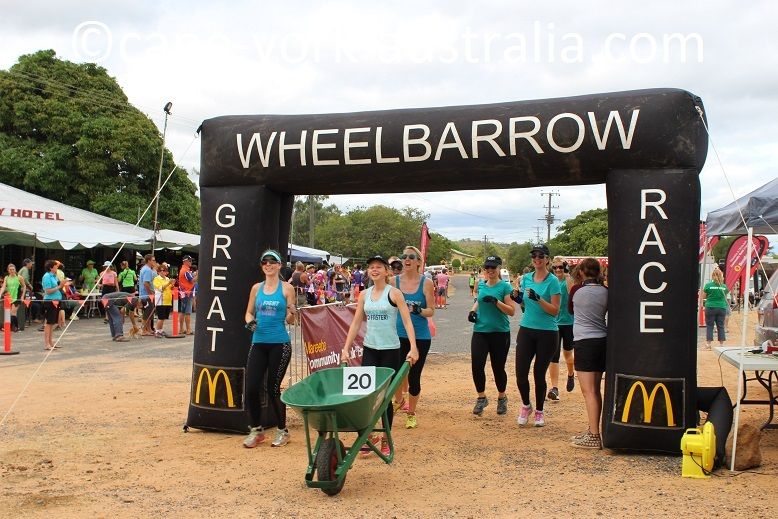 wheelbarrow race almaden