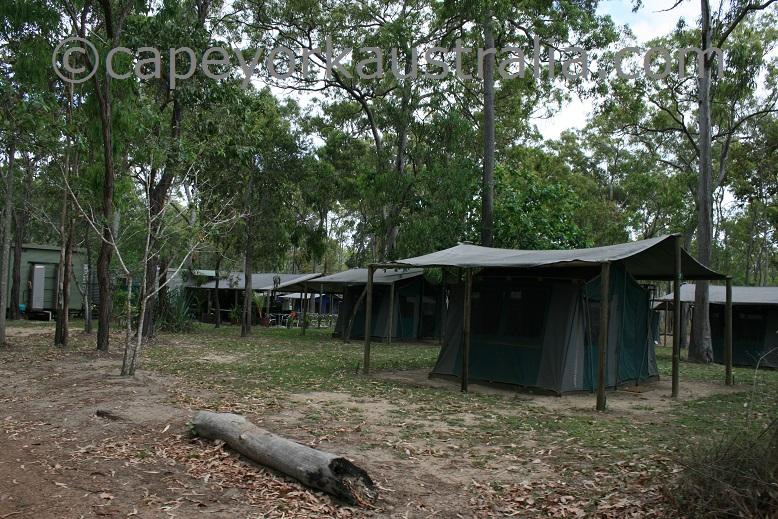 moreton telegraph station camping