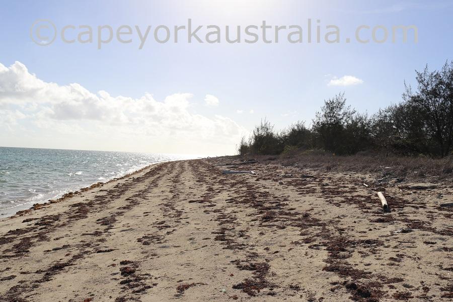 yorke island south west beach walk